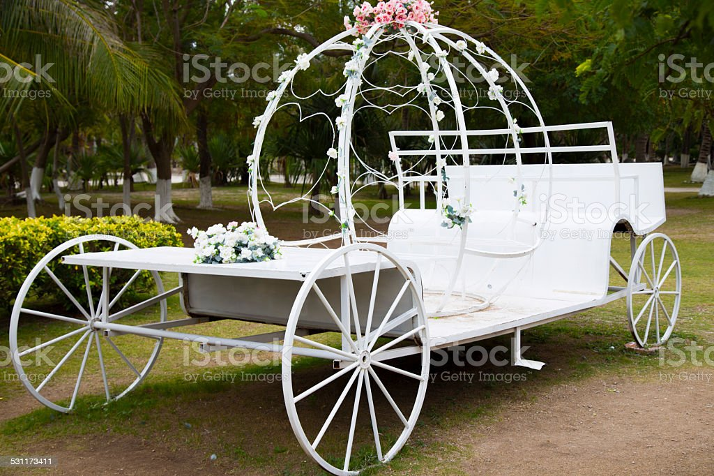 Carriage, Wedding, Horse Cart, White, stock photo