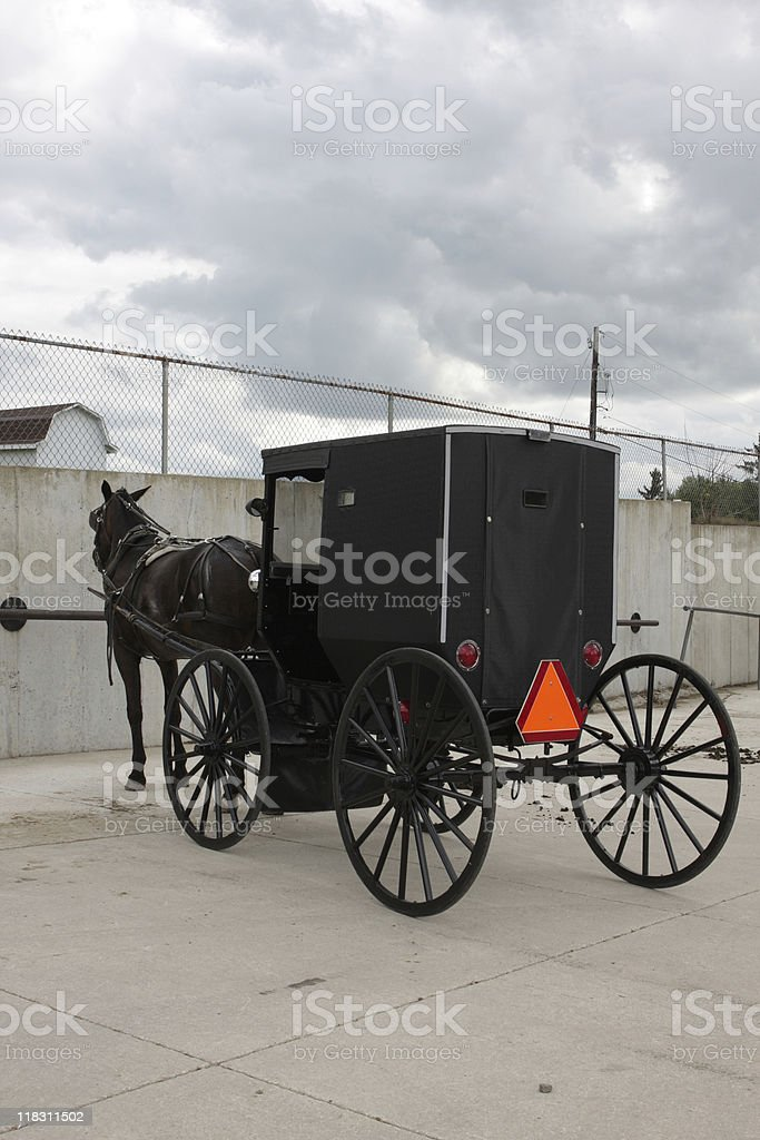 Carriage with horse stock photo