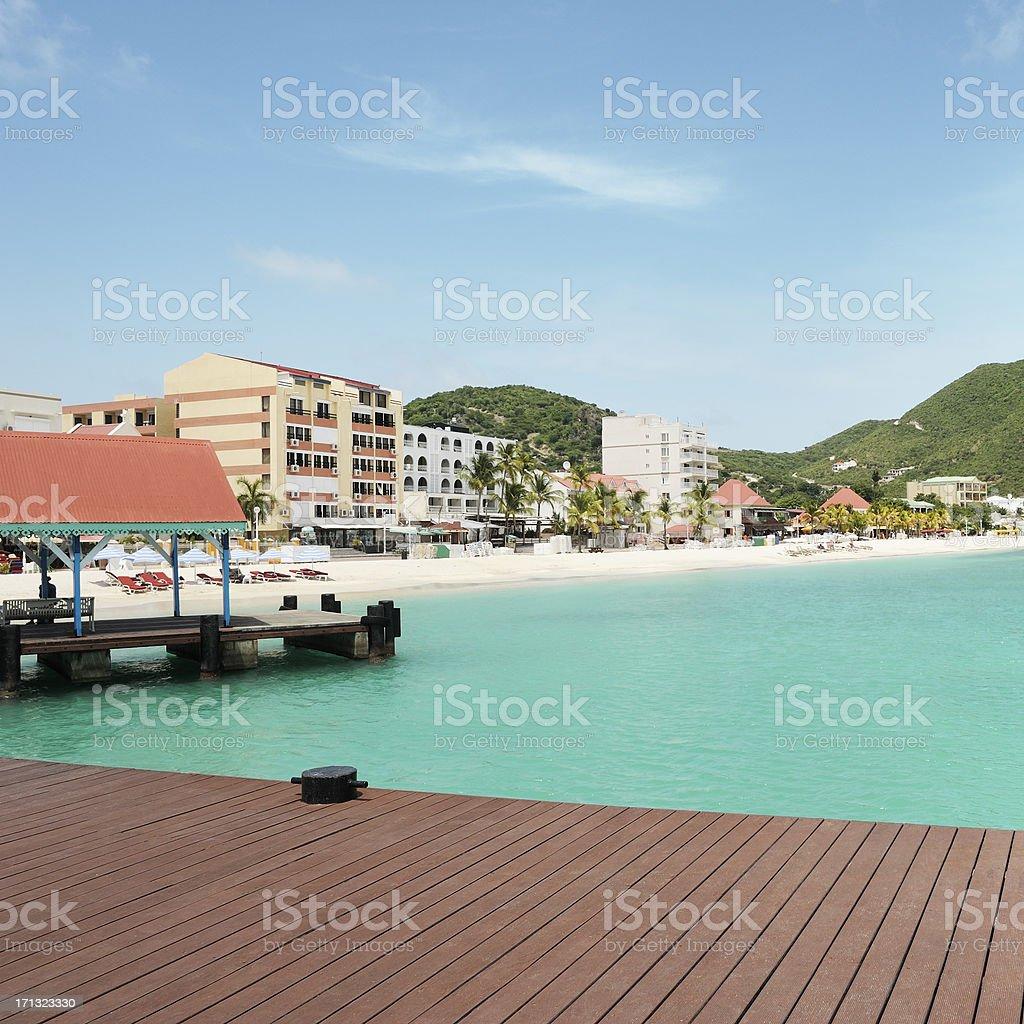 Carribean beach stock photo