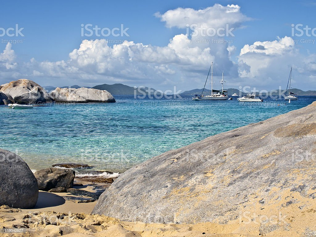 carribean sea virgin gorda stock photo