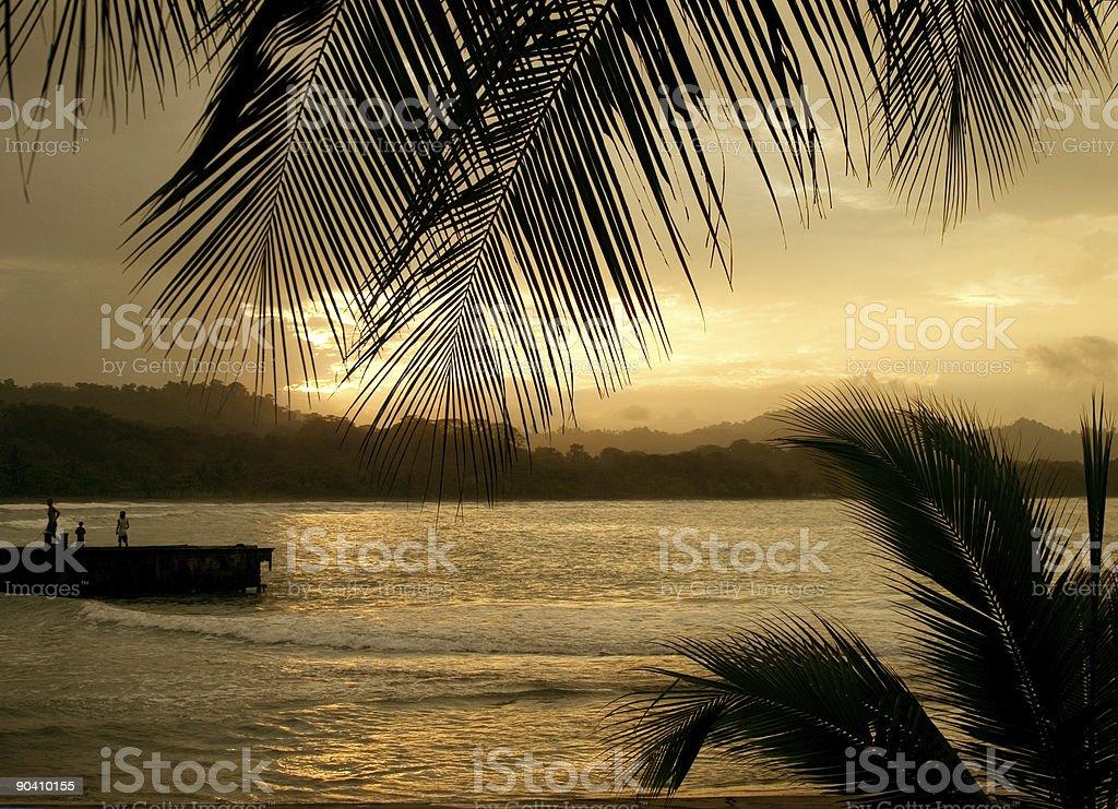 Carribean Sunset royalty-free stock photo