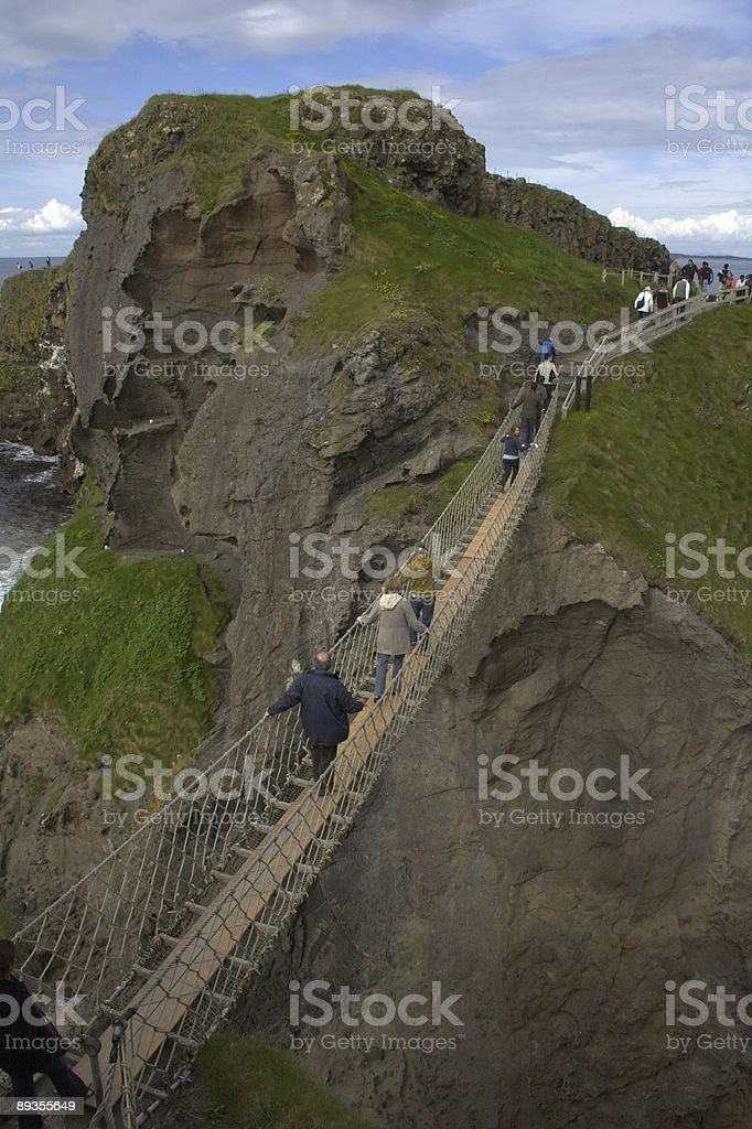 Carrick-a-Rede Rope Bridge stock photo