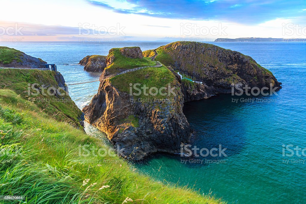 Carrick-A-Rede Rope in Northern Ireland stock photo