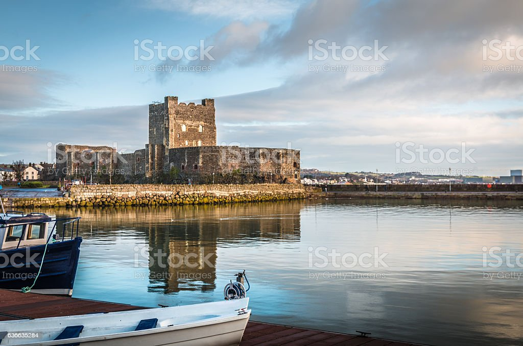 Carrickfergus Castle in Northern Ireland stock photo