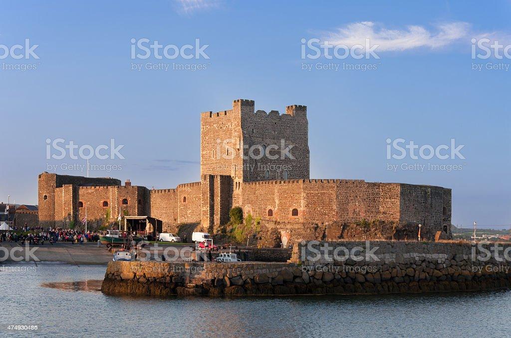 Carrickfergus Castle stock photo