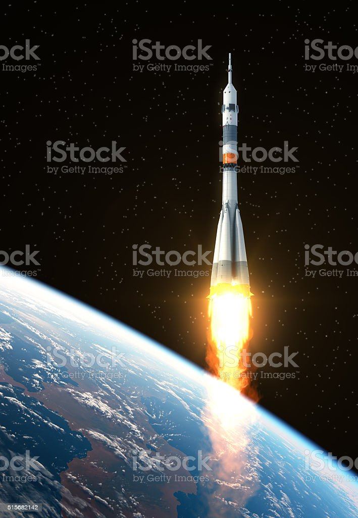 Carrier Rocket Launch stock photo