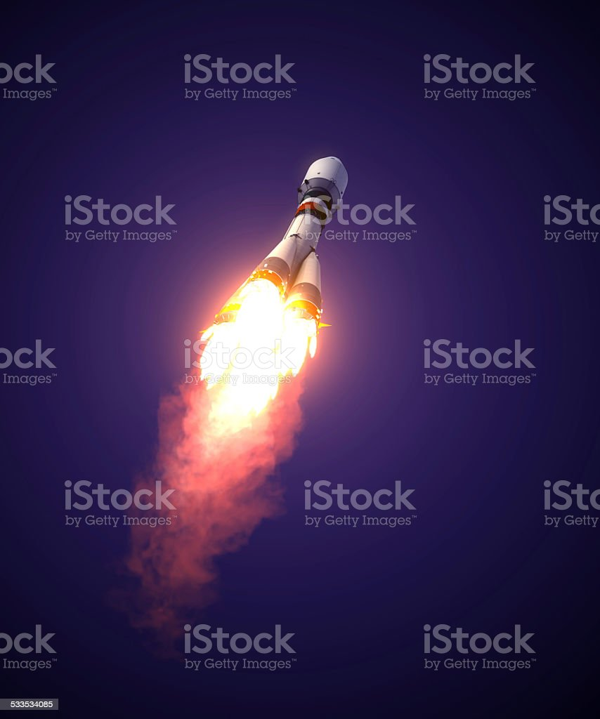 Carrier Rocket Takes Off stock photo