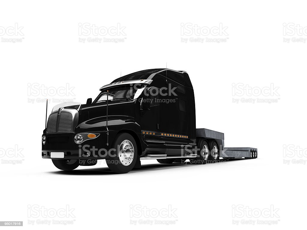 Carrier truck isolated view royalty-free stock photo