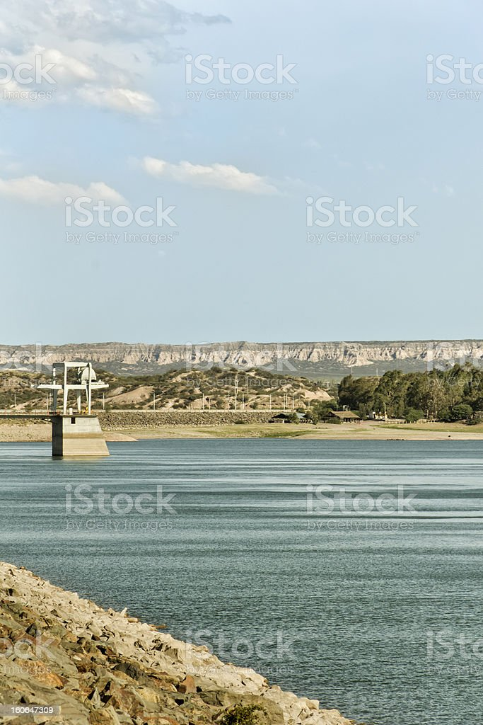 Carrizal dam royalty-free stock photo