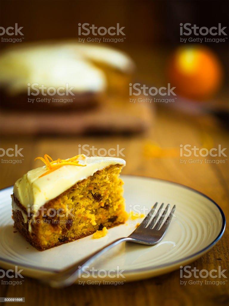 carrot and orange cake stock photo