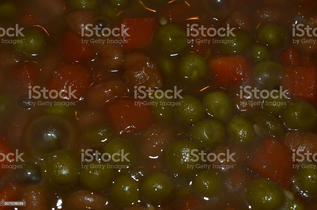 Carrot and peas soup royalty-free stock photo