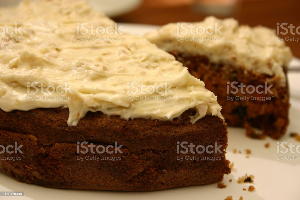Carrot and Walnut Cake royalty-free stock photo
