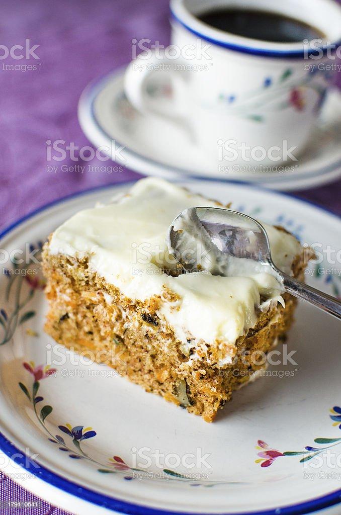 Carrot and walnut cake stock photo