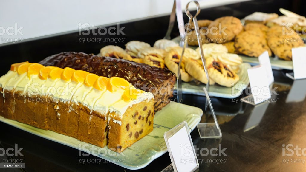 Carrot cake and variation desserts stock photo