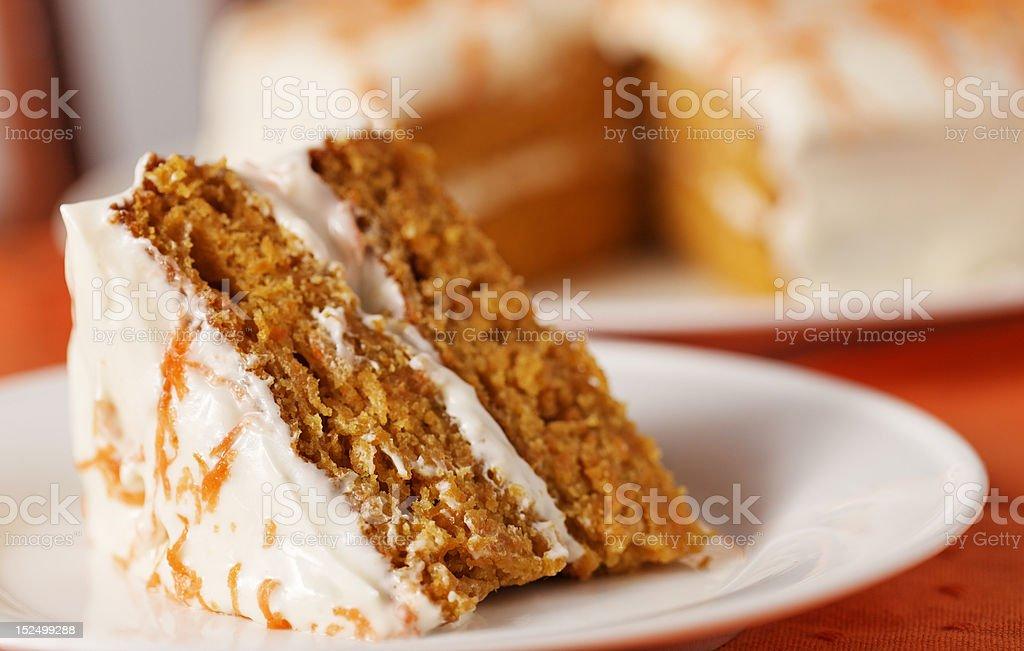 carrot cake horizontal stock photo
