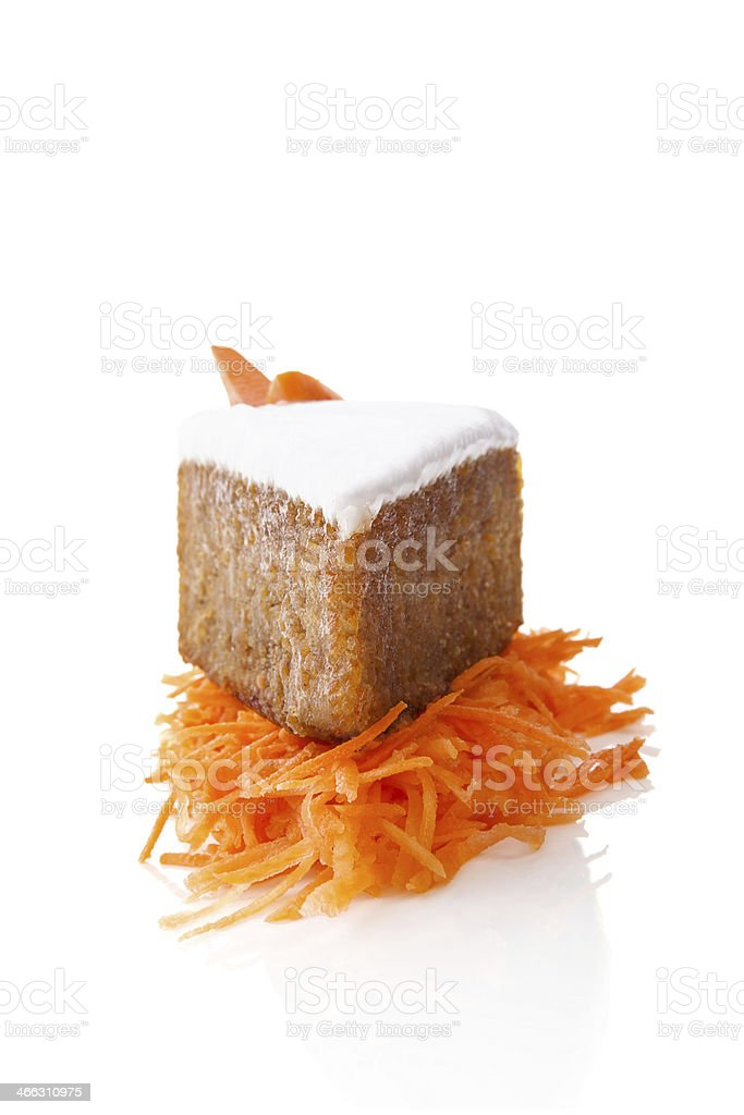 Carrot cake. stock photo
