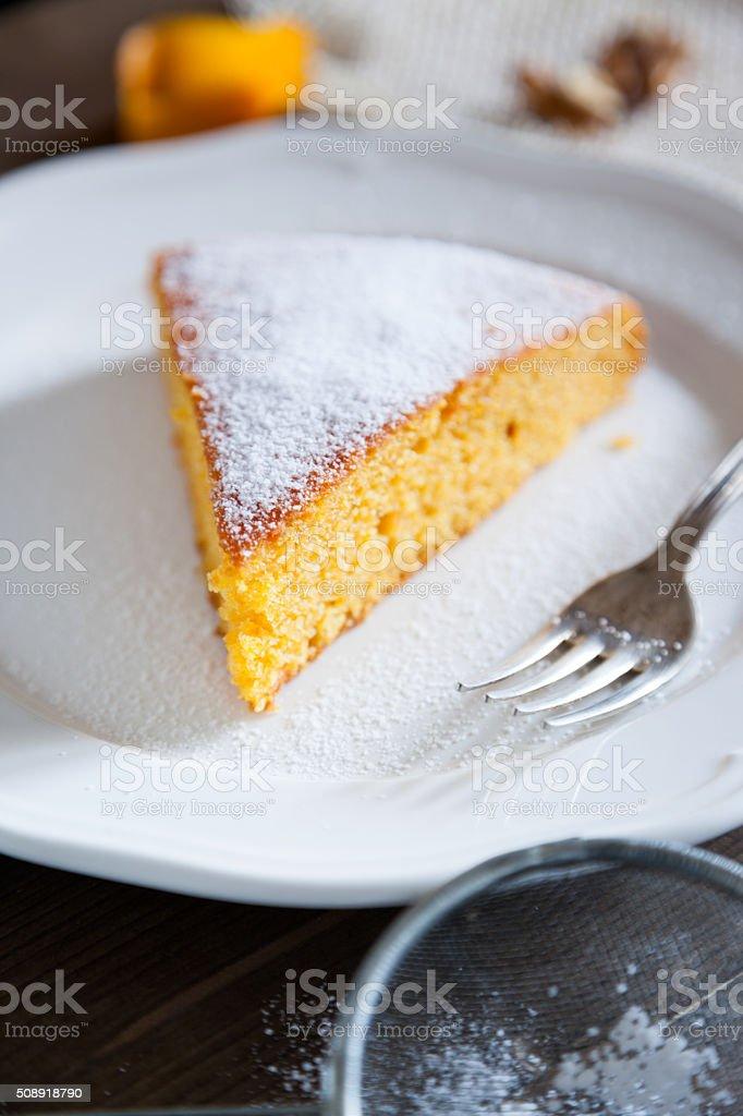 Carrot Cake slace stock photo
