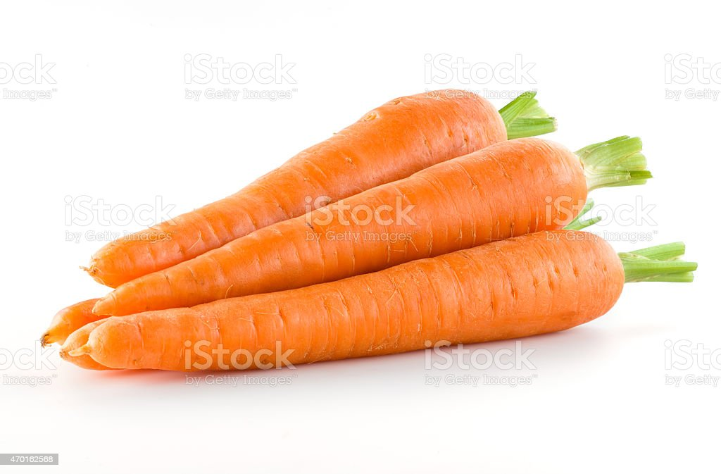 Carrot. Heap of vegetable isolated on white stock photo