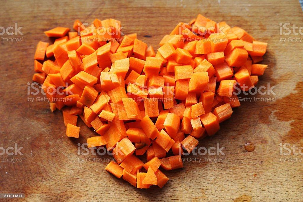 carrot heart royalty-free stock photo