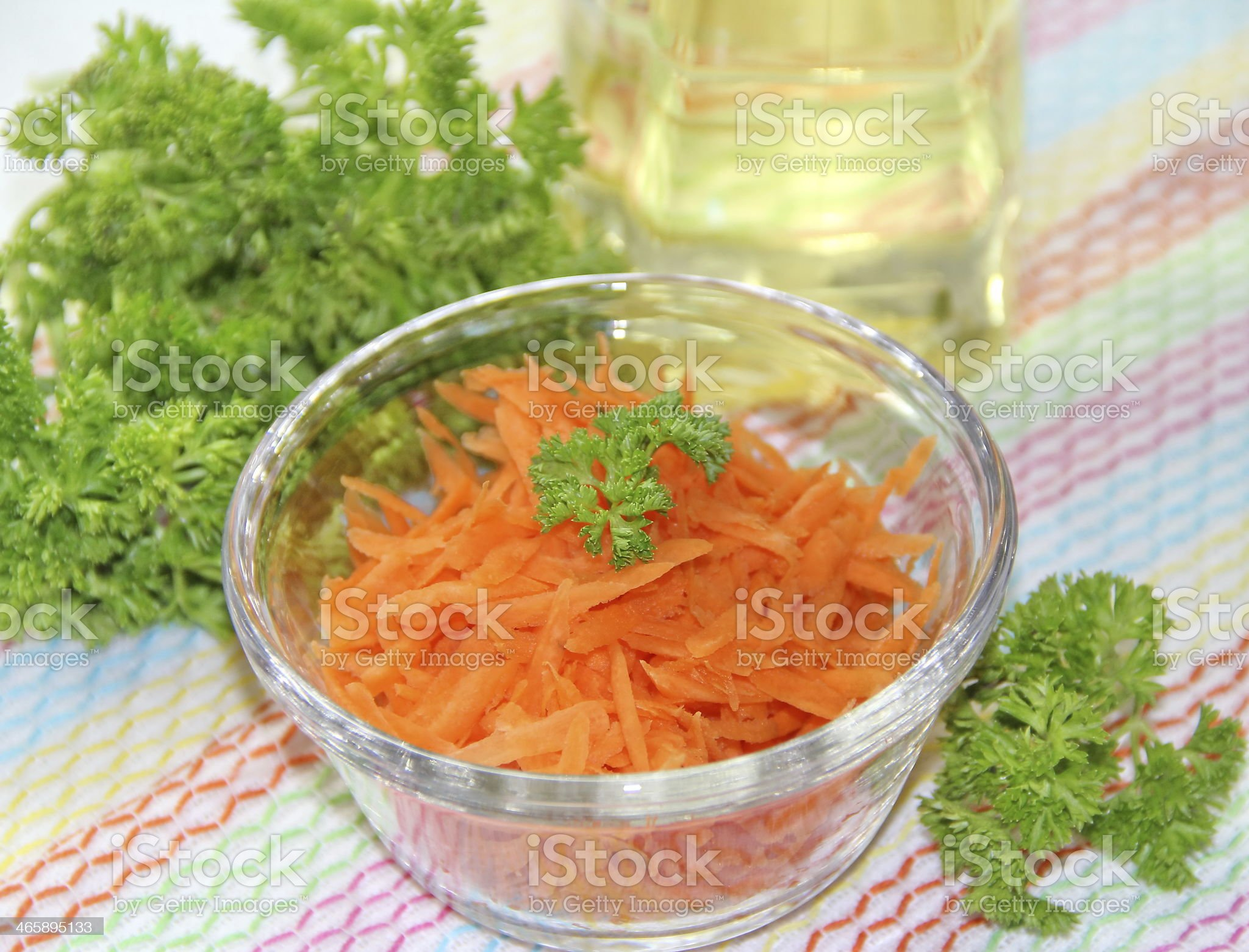 Carrot in a glass cup royalty-free stock photo