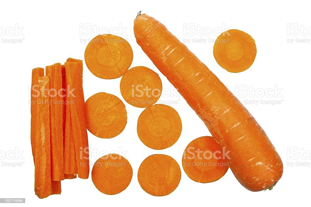 carrot isolated royalty-free stock photo