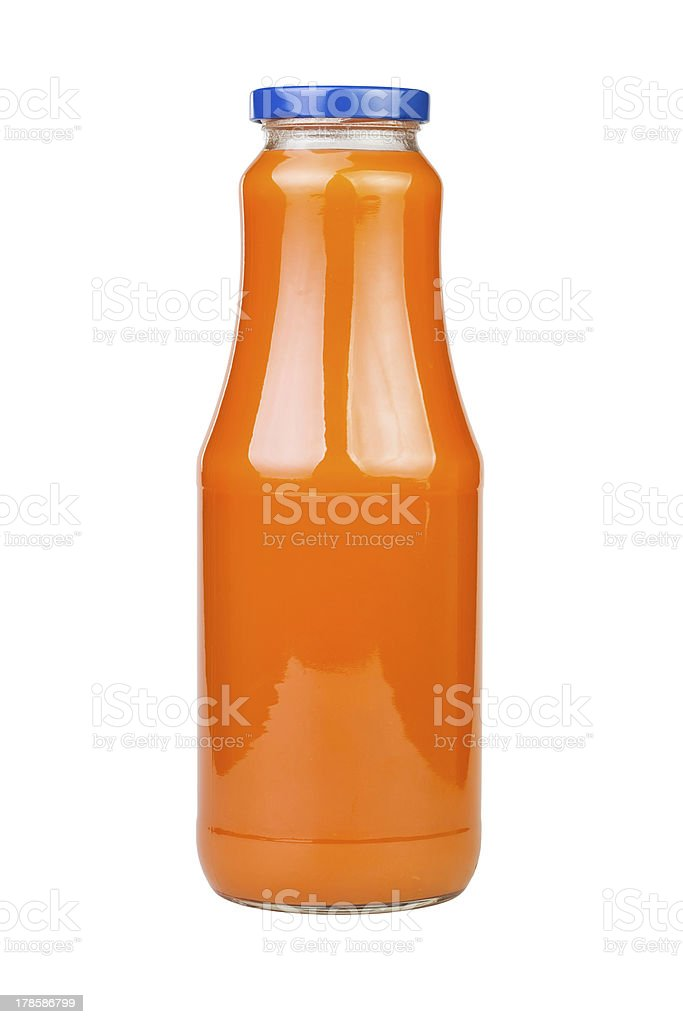 carrot juice bottle royalty-free stock photo
