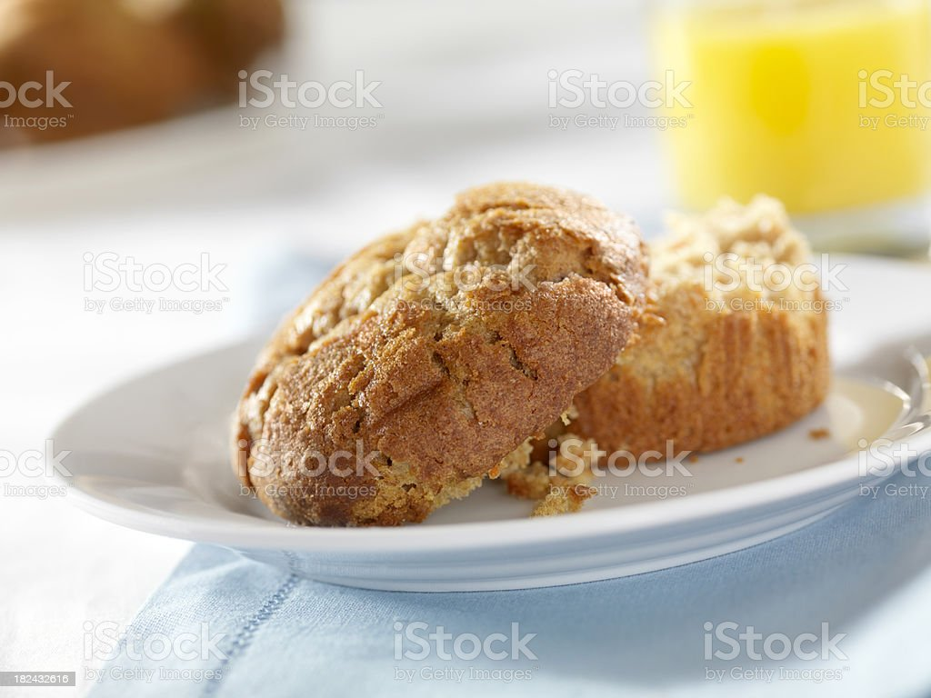 Carrot Muffin with Orange Juice stock photo