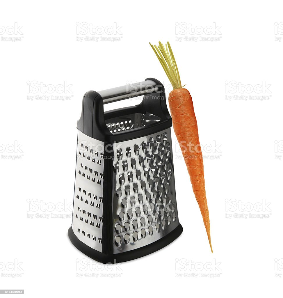 carrot on grater royalty-free stock photo