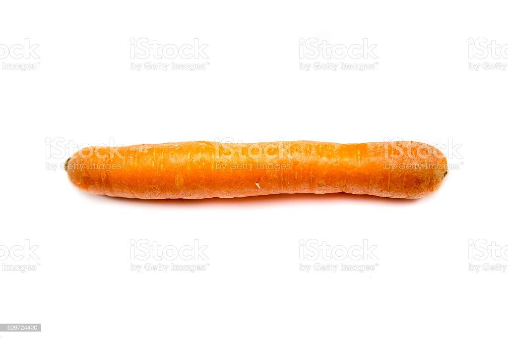 carrot on white background. stock photo