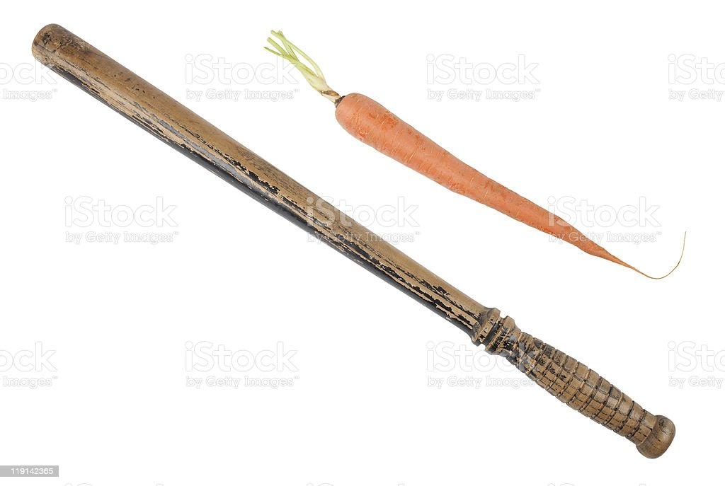 carrot or the stick? stock photo