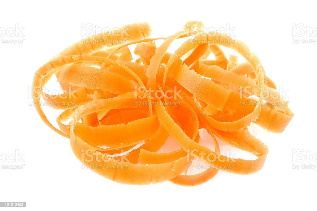 Carrot peel royalty-free stock photo