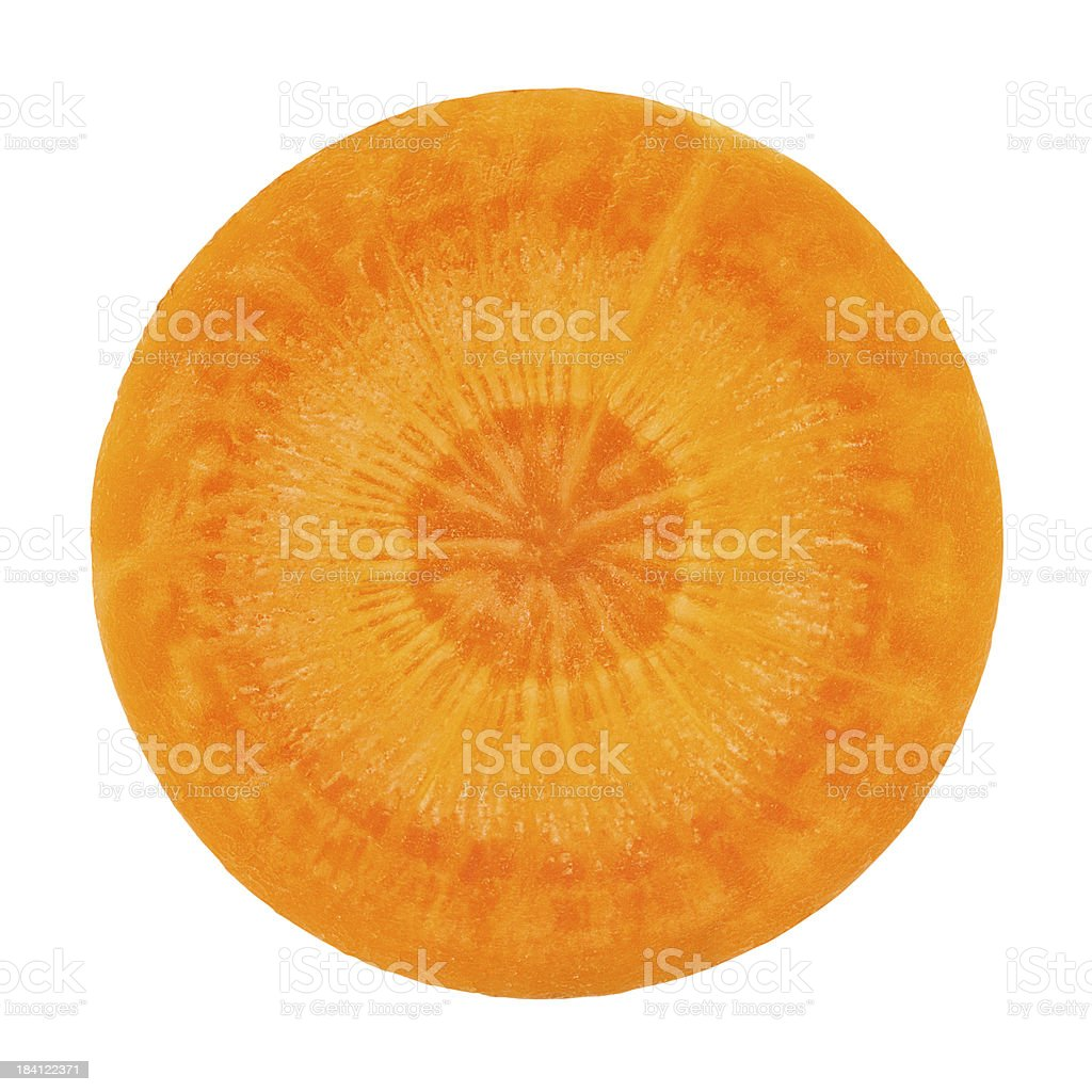 Carrot portion on white stock photo