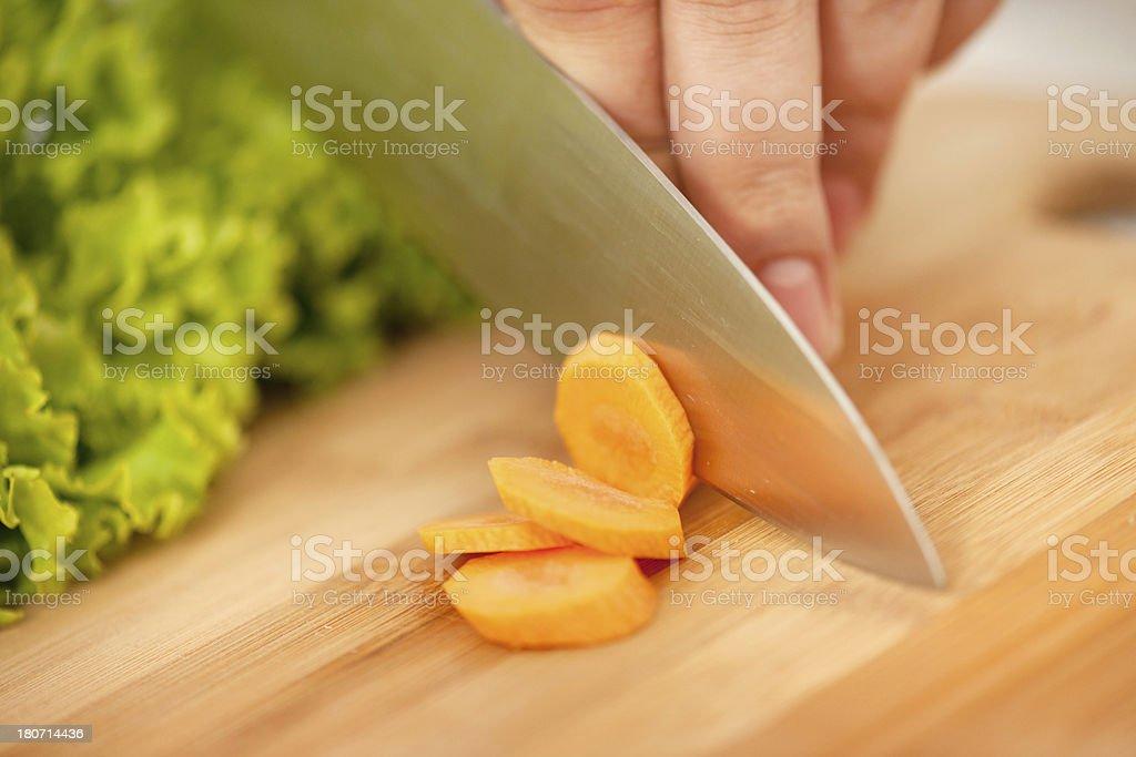 Carrot preparation royalty-free stock photo