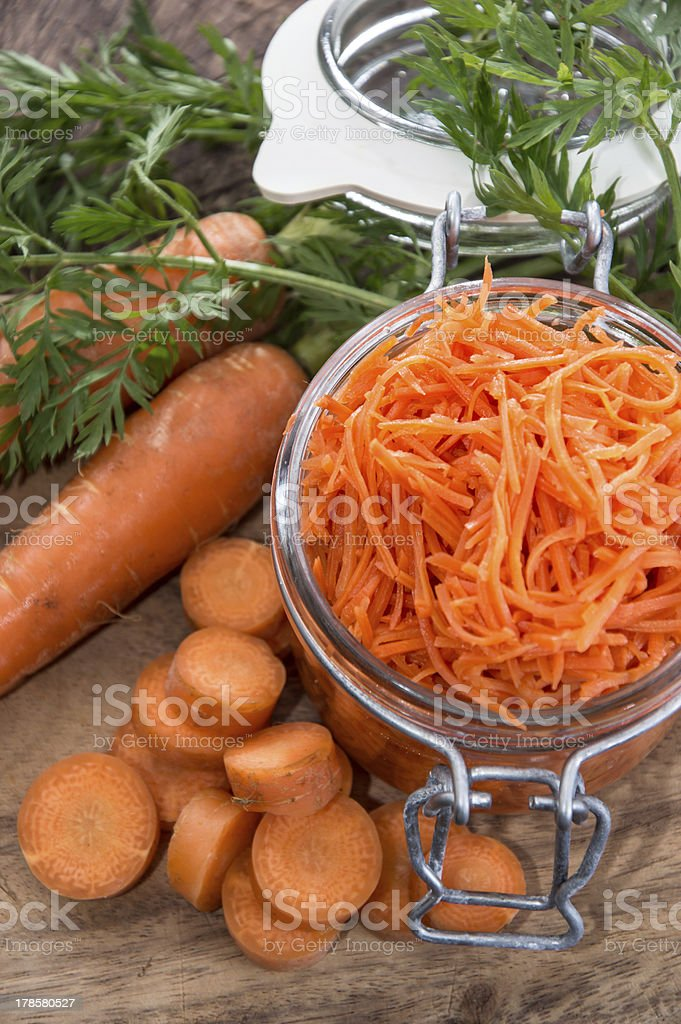 Carrot Salad with ingredients royalty-free stock photo