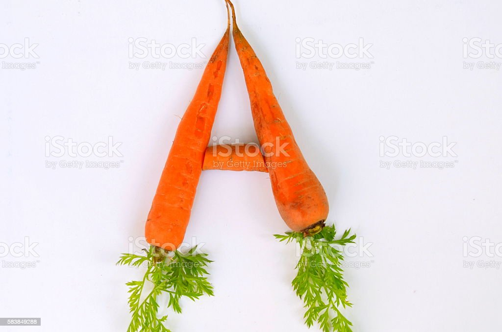 Carrot.  Vitamin A stock photo