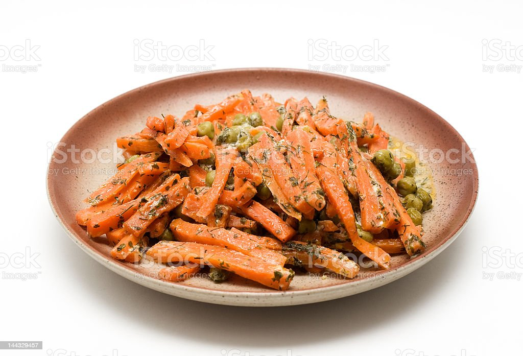 Carrot with pea and herbs royalty-free stock photo