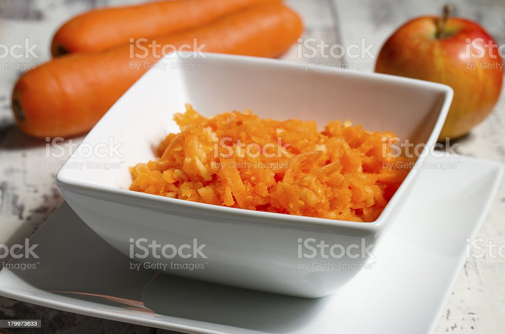Carrots and apple salad royalty-free stock photo