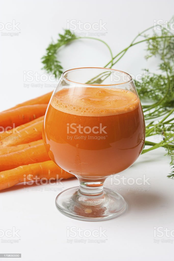 carrots and carrot juice royalty-free stock photo