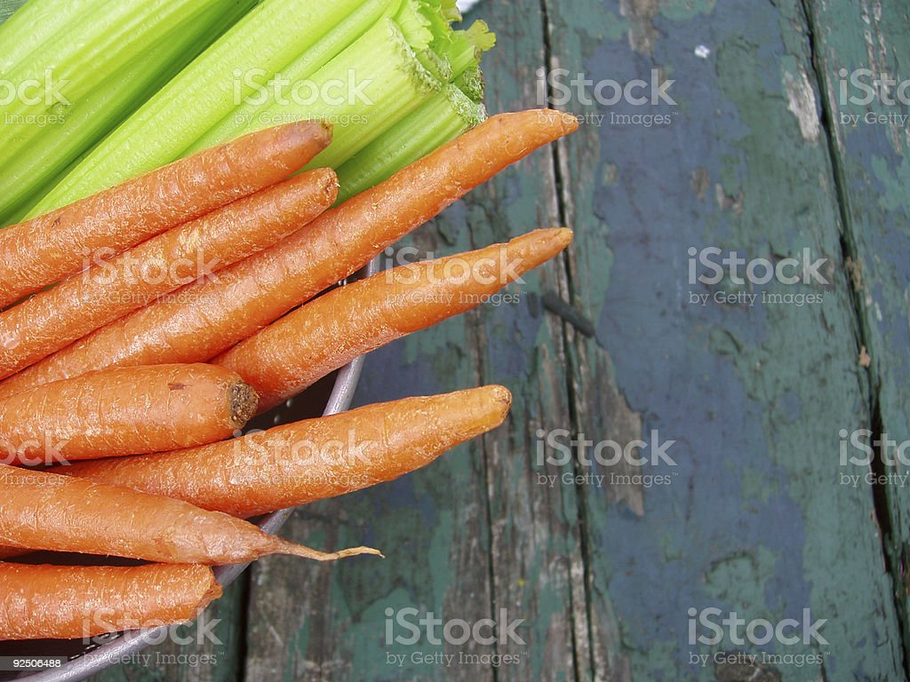 Carrots and celery - Country Vegetables royalty-free stock photo