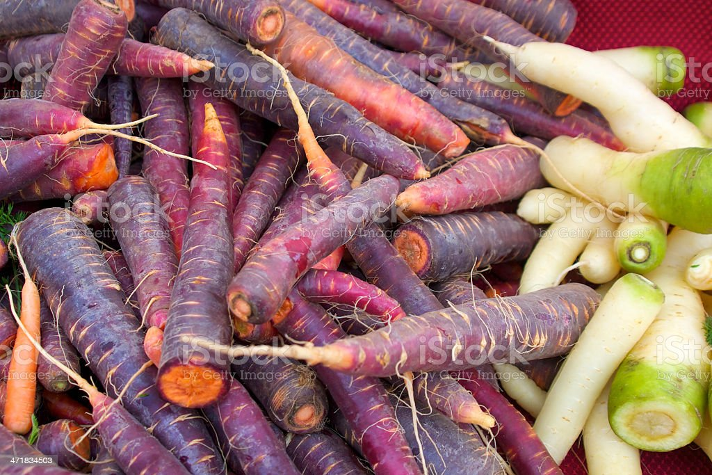 Carrots at the farmer's market royalty-free stock photo