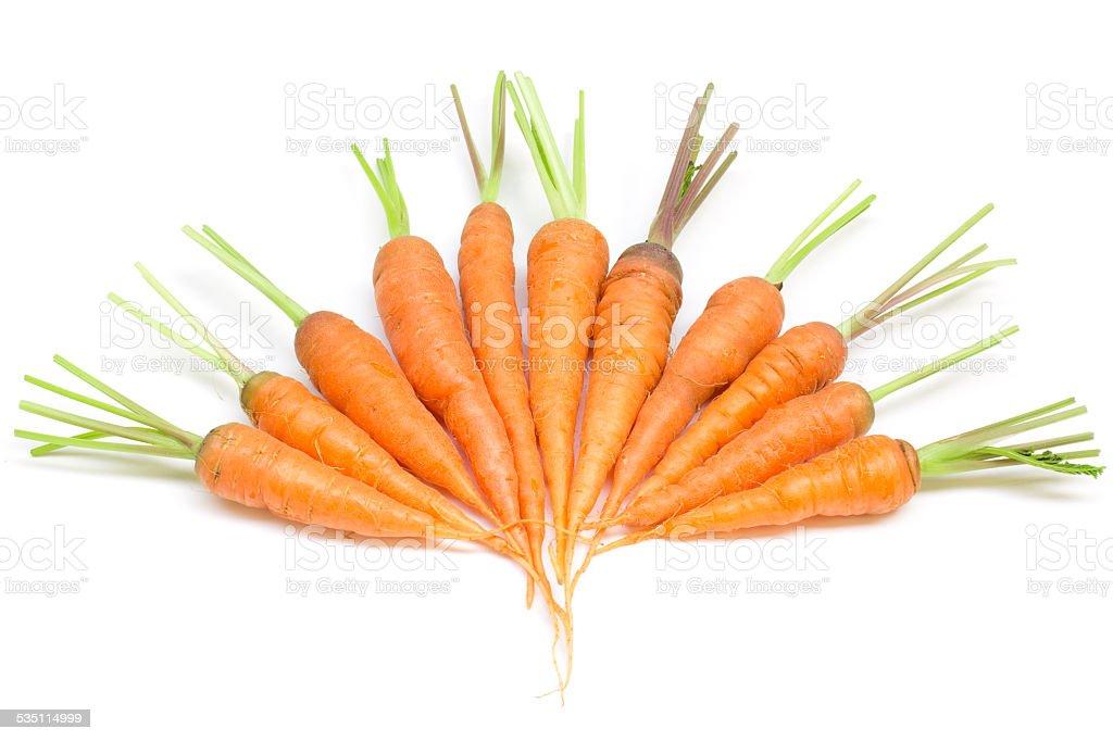 Carrots, baby carrots stock photo