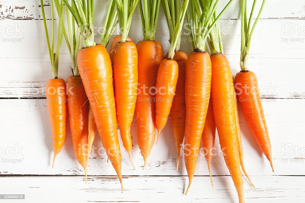 Carrots close up stock photo