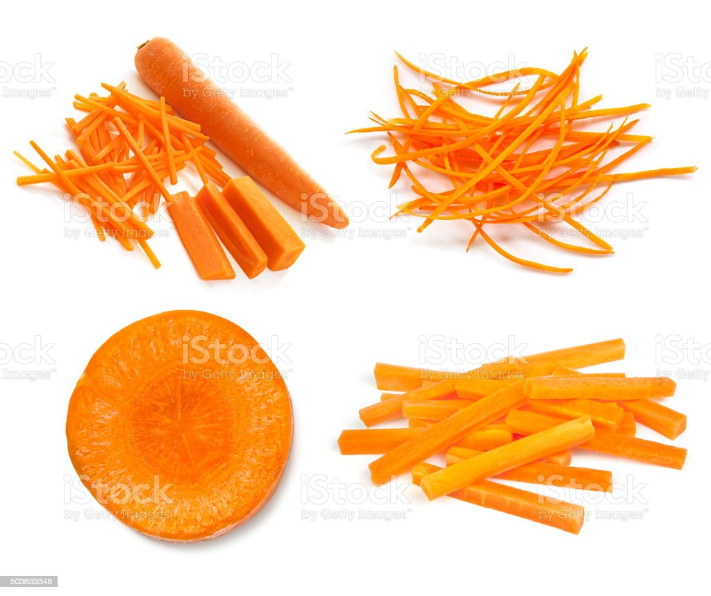 Carrots Collection Isolated on White stock photo