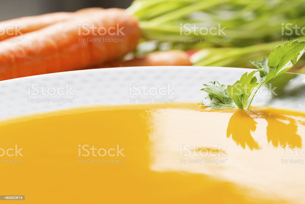 Carrots cream stock photo