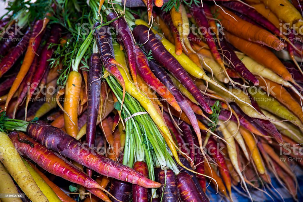 Carrots heirloom stock photo