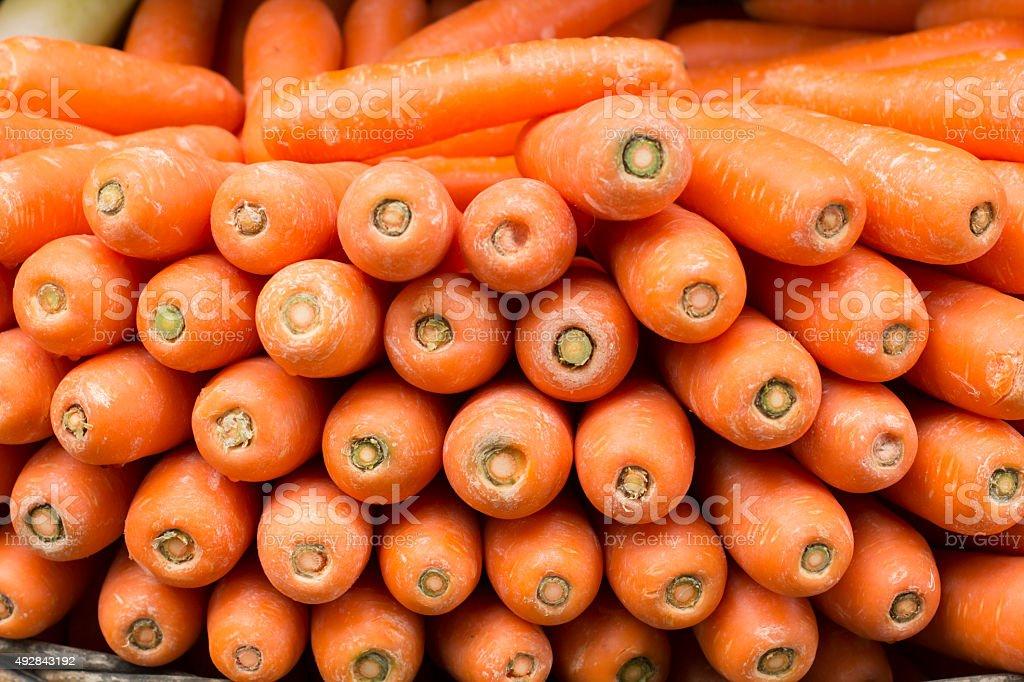 Carrots in Market stock photo