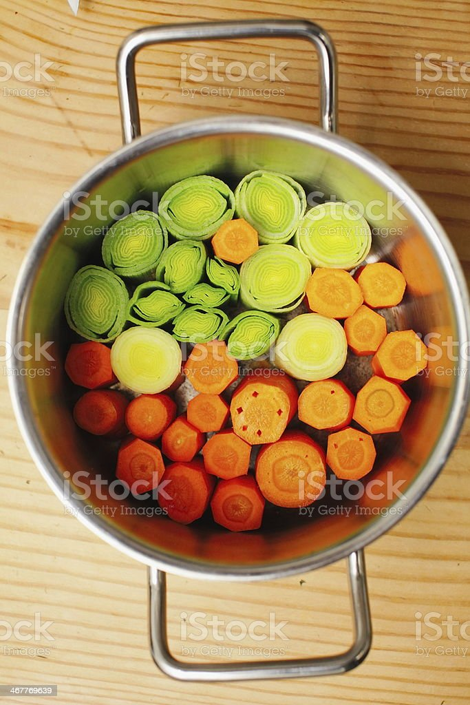 Carrots On A Table royalty-free stock photo