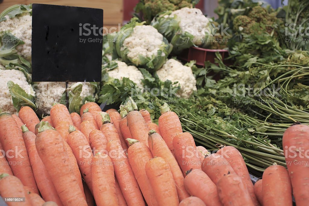 Carrots on the farmer's market royalty-free stock photo