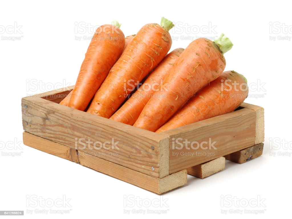 Carrots on white background stock photo