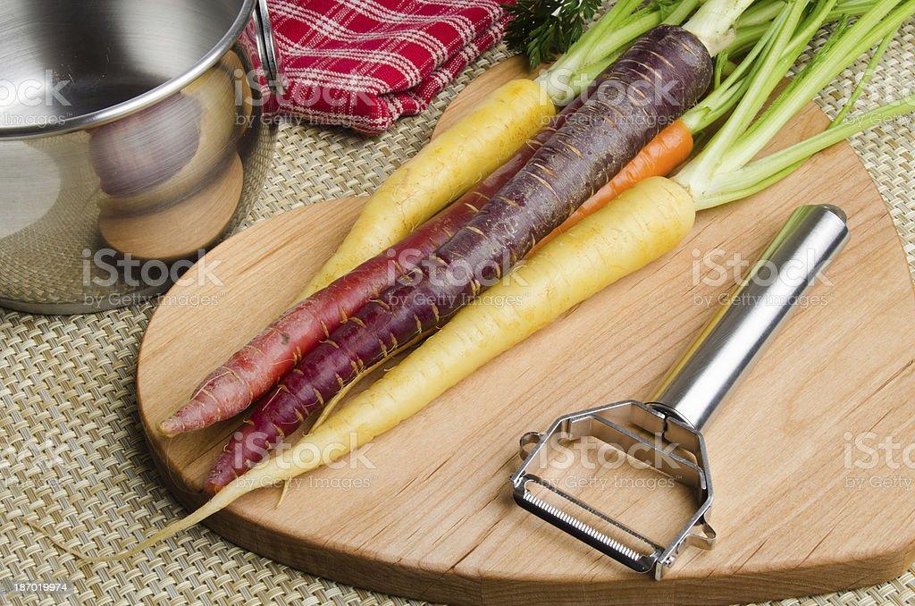 Carrots Preparation stock photo